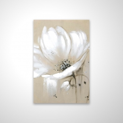 Magnetic 20 x 30 - 3D - White abstract wild flower