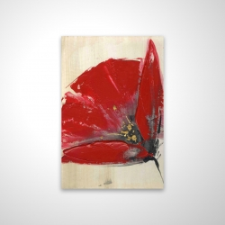 Magnetic 20 x 30 - 3D - Three red flowers