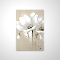 Magnetic 20 x 30 - 3D - White abstract wild flowers