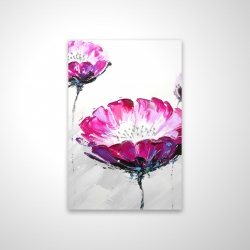 Magnetic 20 x 30 - 3D - Pink wild flowers