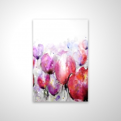 Magnetic 20 x 30 - 3D - Pink tulips field