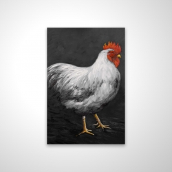 Magnetic 28 x 42 - 3D - Grey rooster 2