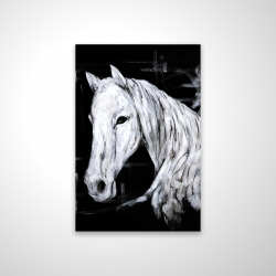 Magnetic 20 x 30 - 3D - Abstract horse profile view