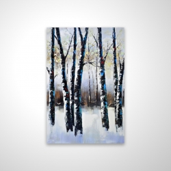 Magnetic 20 x 30 - 3D - Frosted trees