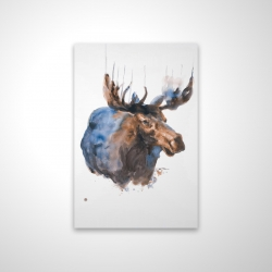 Magnetic 28 x 42 - 3D - Abstract blue moose