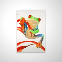Magnetic 20 x 30 - 3D - Red-eyed frog