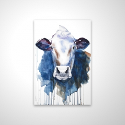 Magnetic 20 x 30 - 3D - Watercolor cow