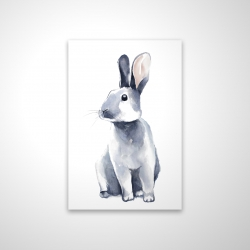 Magnetic 20 x 30 - 3D - Gray curious rabbit
