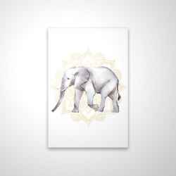 Magnetic 20 x 30 - 3D - Elephant on mandalas