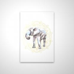 Magnetic 20 x 30 - 3D - Elephant on mandalas pattern
