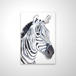 Magnetic 20 x 30 - 3D - Watercolor zebra