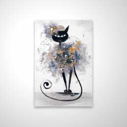 Magnetic 20 x 30 - 3D - Cartoon black cat