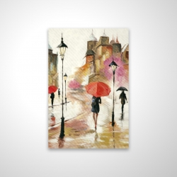 Magnetic 20 x 30 - 3D - Passersby under their umbrellas