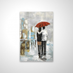 Magnetic 20 x 30 - 3D - Couple walking under their umbrella