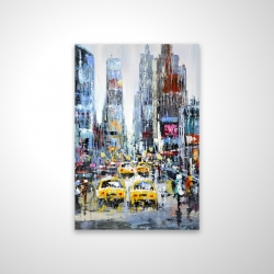 Magnetic 20 x 30 - 3D - Urban scene with yellow taxis
