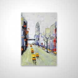 Magnetic 20 x 30 - 3D - Gray street with yellow and red accents