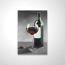 Magnetic 20 x 30 - 3D - Bottle of burgundy