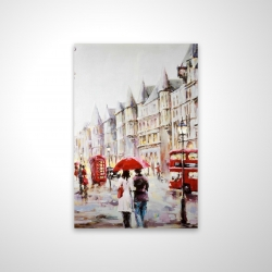 Magnetic 20 x 30 - 3D - European street by a rainy day