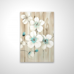 Magnetic 20 x 30 - 3D - Cherry blossom in white