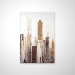 Magnetic 20 x 30 - 3D - Abstract earthy tones city
