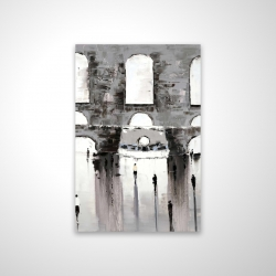 Magnetic 20 x 30 - 3D - Gray building with passersby