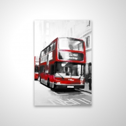 Magnetic 20 x 30 - 3D - Red bus londoner