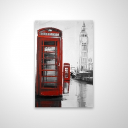 Magnetic 20 x 30 - 3D - Red phonebooth with the big ben