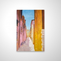 Magnetic 20 x 30 - 3D - Colorful houses in the streets of collioure