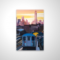 Magnetic 20 x 30 - 3D - Sunset over the subway in new-york
