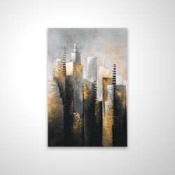 Magnetic 20 x 30 - 3D - Abstract gold skyscraper