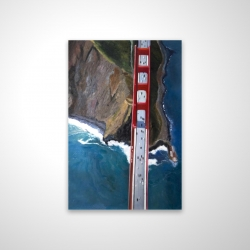 Magnetic 20 x 30 - 3D - Overhead view of the golden gate and mountains