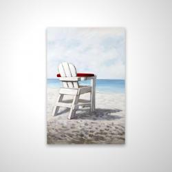 Magnetic 20 x 30 - 3D - White beach chair