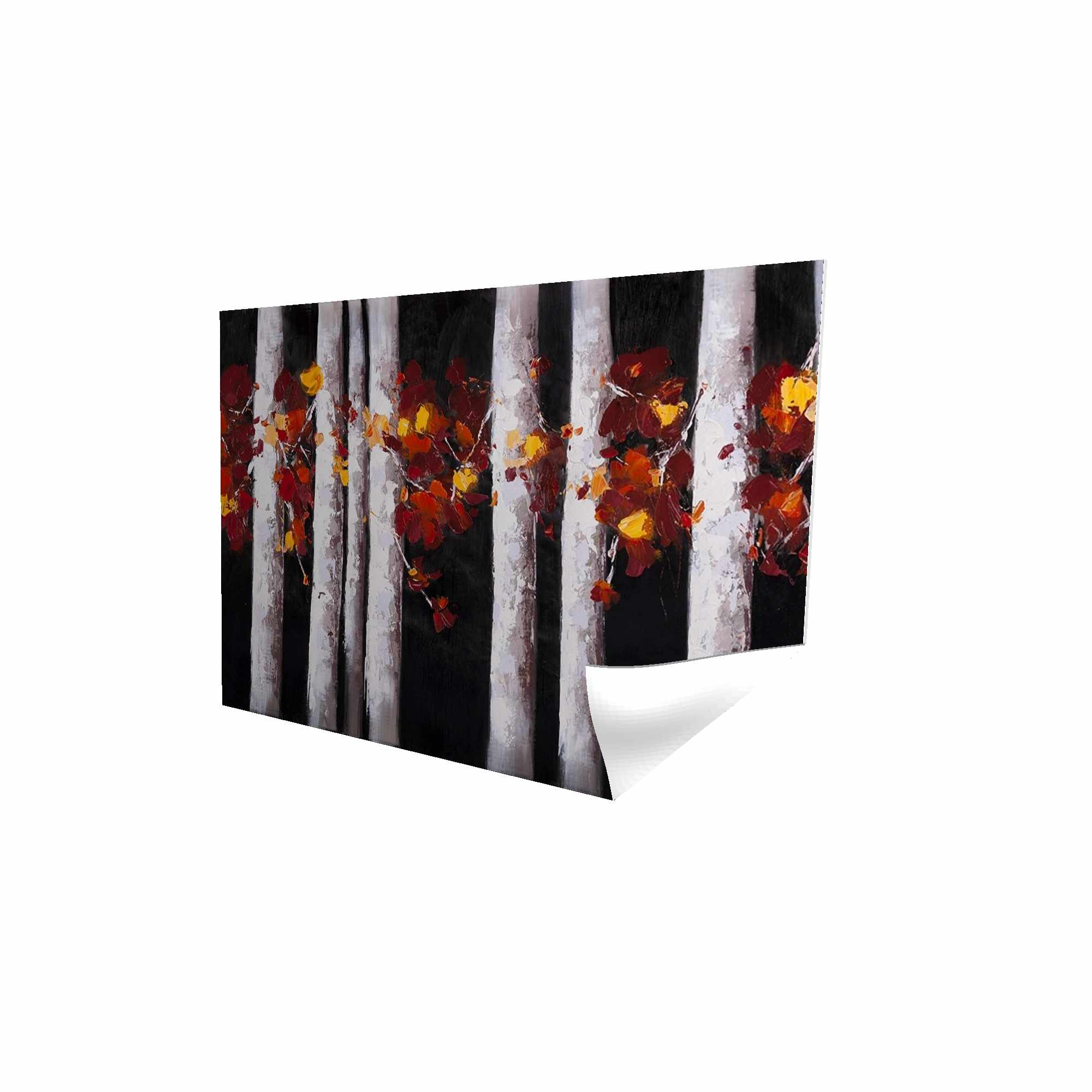 Poster 24 x 36 - 3D - White trees with orange leaves