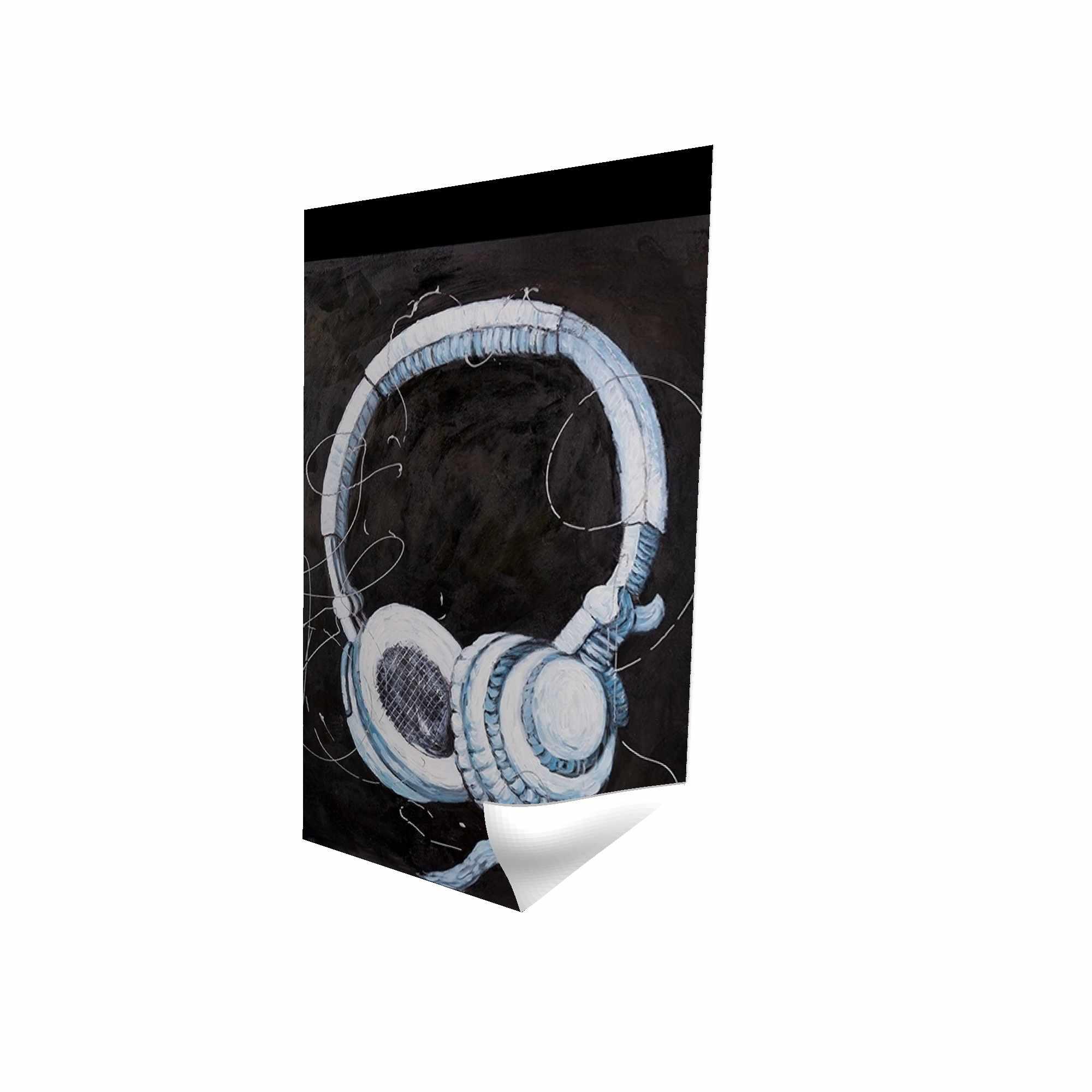 Affiche 24 x 36 - 3D - écouteur