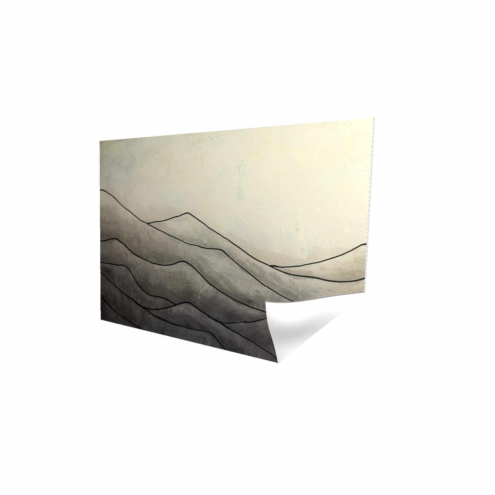 Affiche 24 x 36 - 3D - Montagnes désaturés