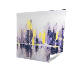 Abstract and blurry cityscape