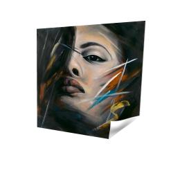 Portrait abstrait de femme