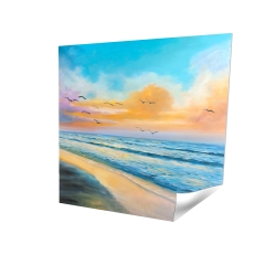Poster 16 x 16 - 3D - Breathtaking tropical sunset
