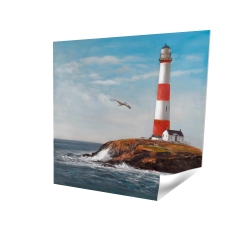 Lighthouse at the edge of the sea