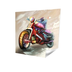 Poster 16 x 16 - 3D - Abstract motorcycle