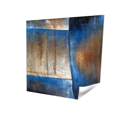 Luminous blue and bronze shape
