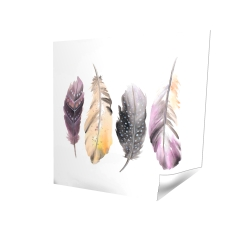 Poster 16 x 16 - 3D - Colorful feather set