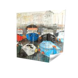 Color fading rain at the port