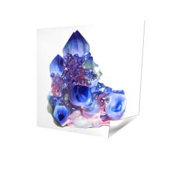 Poster 16 x 16 - 3D - Blue and purple quartz cristal