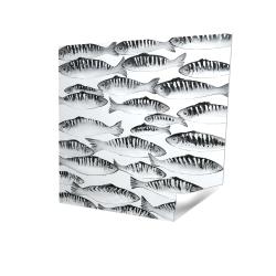 Banc de poisson gris