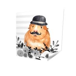 Affiche 16 x 16 - 3D - Cochon d'inde détective