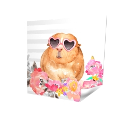 Poster 16 x 16 - 3D - Guinea pig with glasses