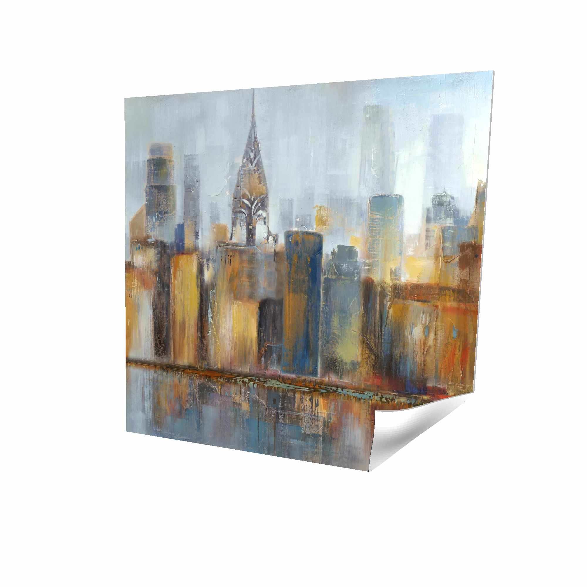 Poster 16 x 16 - 3D - Cityscape with chrysler building