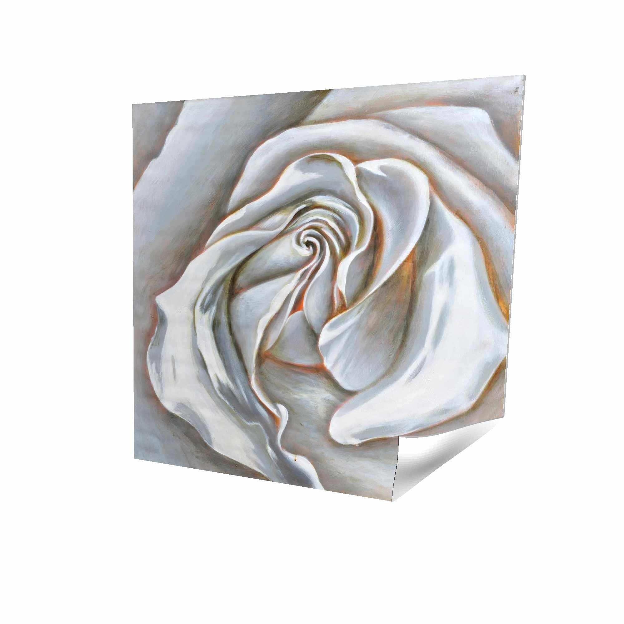 Centre d'une rose blanche