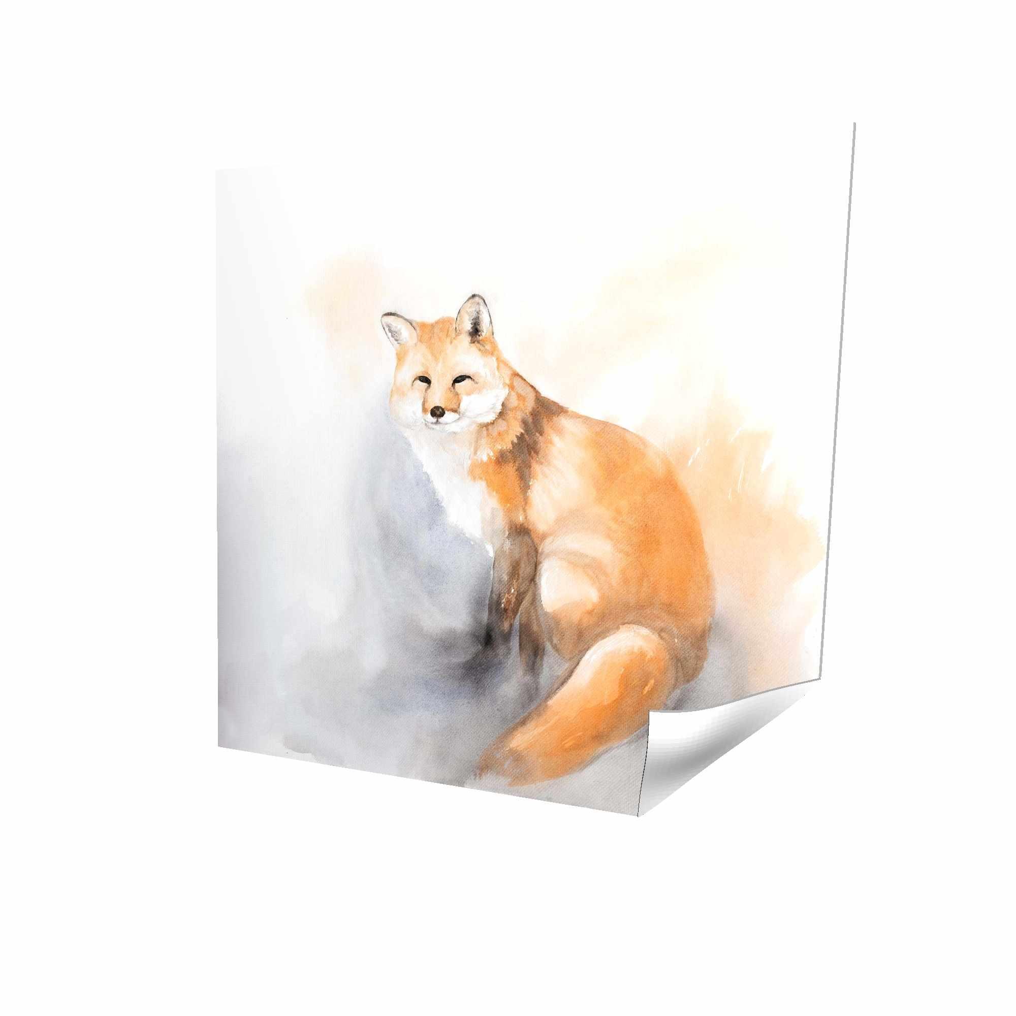 Poster 16 x 16 - 3D - Watercolor fox